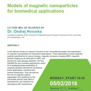 Dr. Ondrej Hovorka: Models of magnetic nanoparticles for biomedical applications